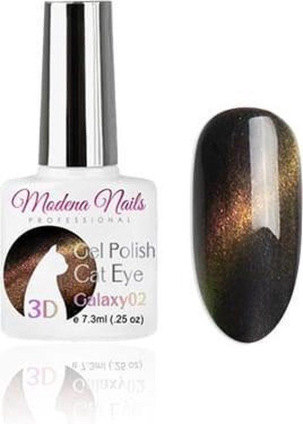 Modena Nails Gellak Cat Eye Galaxy 3D - 02 - 7,3ml.