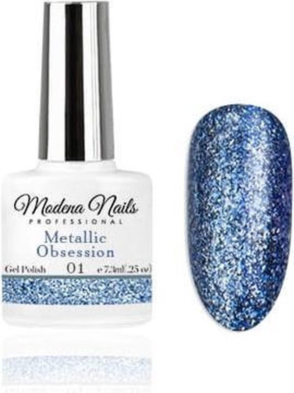 Modena Nails Gellak Metallic Obsession - 01 - 7,3ml.