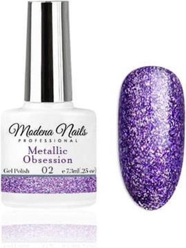 Modena Nails Gellak Metallic Obsession - 02 - 7,3ml.