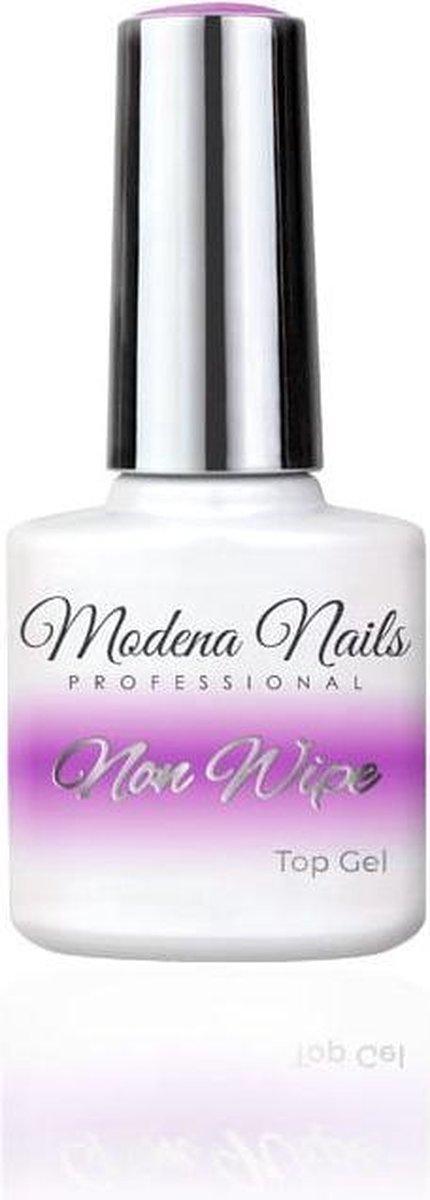 Modena Nails Non Wipe Top Coat Gellak 7,3ml.