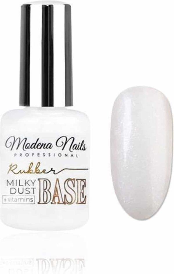 Modena Nails Rubber Base Coat Gellak Vitamins - Milky Dust 15ml.