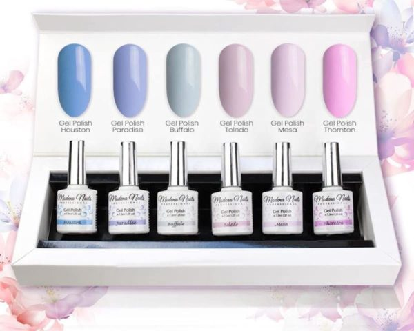 Modena Nails UV/LED Gellak Set 6 Kleuren - Pastel Paradise Set 05