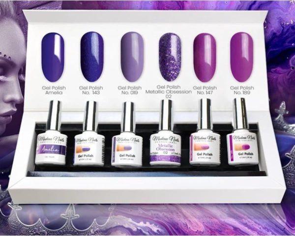 Modena Nails UV/LED Gellak Set 6 Kleuren - Purple Queen 16
