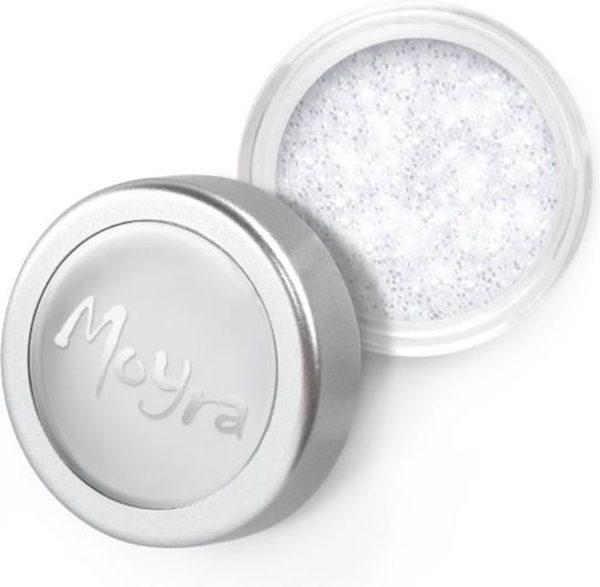 Moyra Glitter powder nr 01 - Wit / Zilver