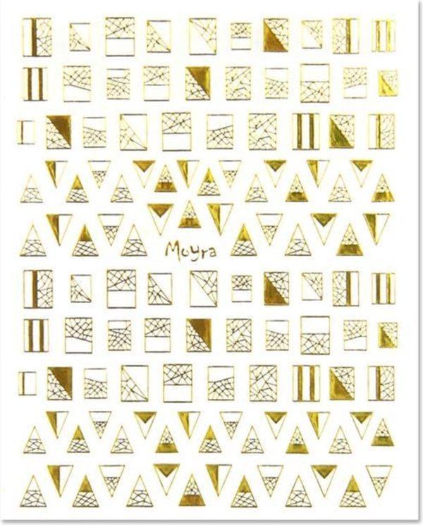 Moyra Matrica sticker No.04 GOUD