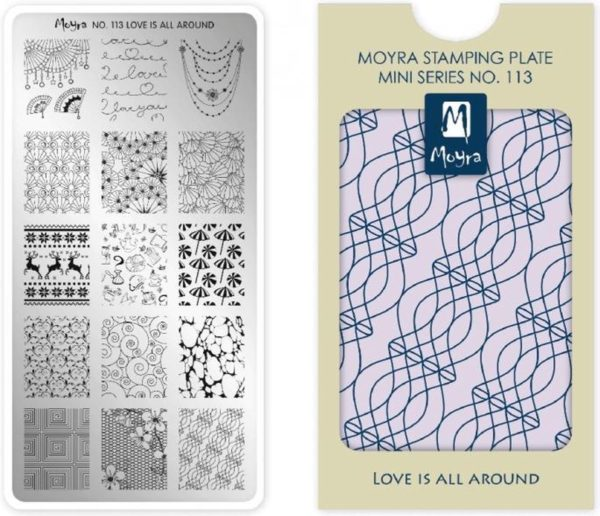 Moyra Mini Stamping Plate 113 Love Is All Around