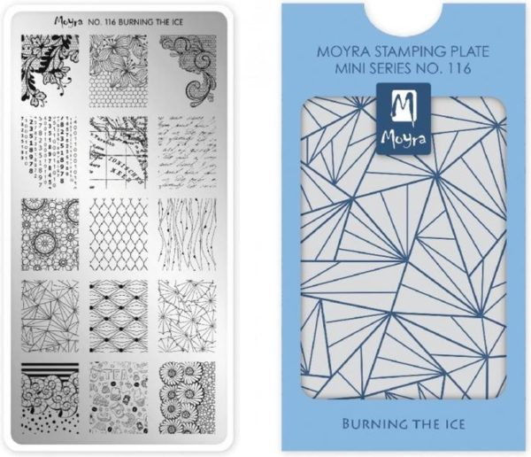 Moyra Mini Stamping Plate 116 Burning The Ice