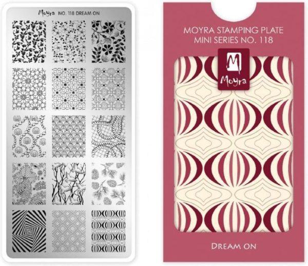 Moyra Mini Stamping Plate 118 Dream On