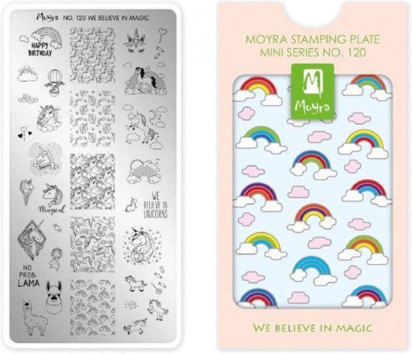 Moyra Mini Stamping Plate 120 We Believe in Magic