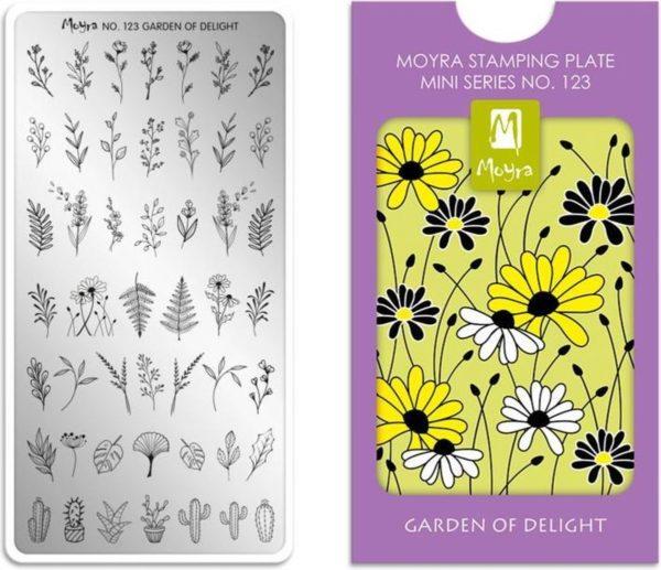 Moyra Mini Stamping Plate 123 Garden of Delight