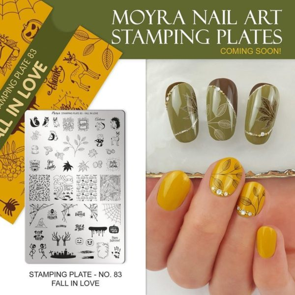 Moyra Nail Art Stamping Plate 83 - Fall in Love