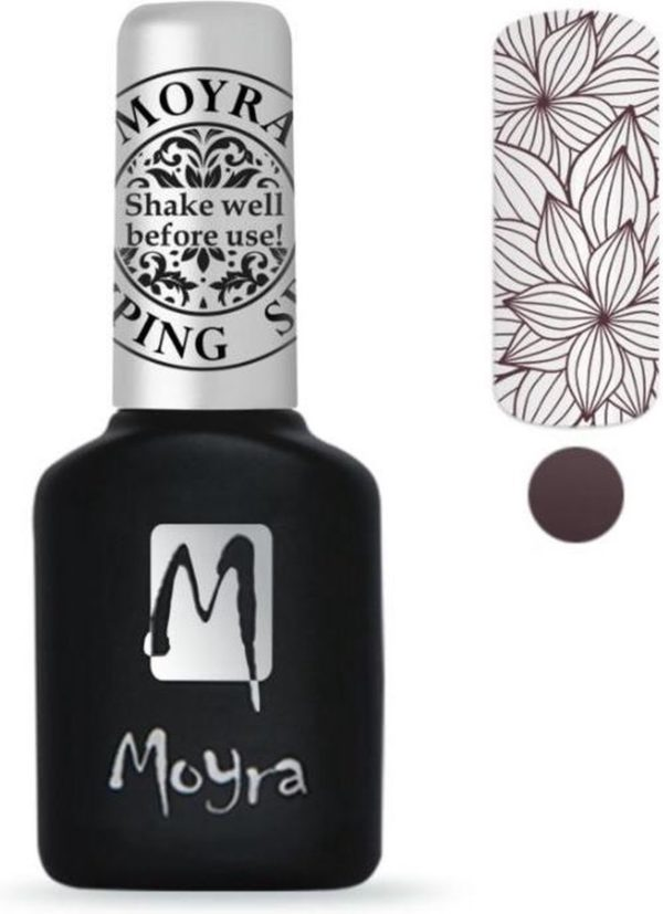 Moyra Stamping Gel Polish 10ml SGP09 BROWN