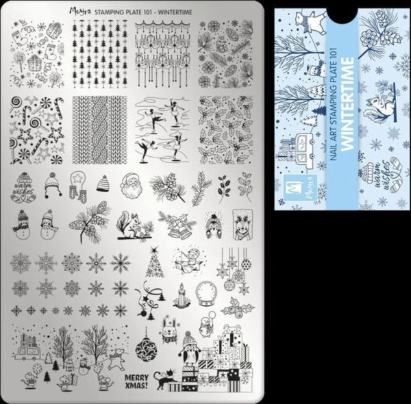 Moyra Stamping Plate 101 WINTERTIME