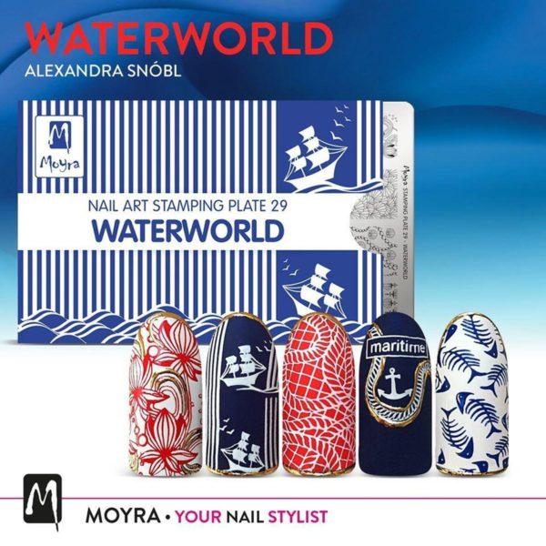 Moyra Stamping Plate 29 - Waterworld