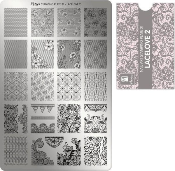 Moyra Stamping Plate 31 LaceLove 2
