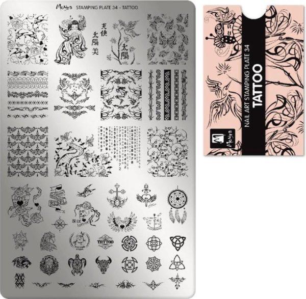 Moyra Stamping Plate 34 Tattoo