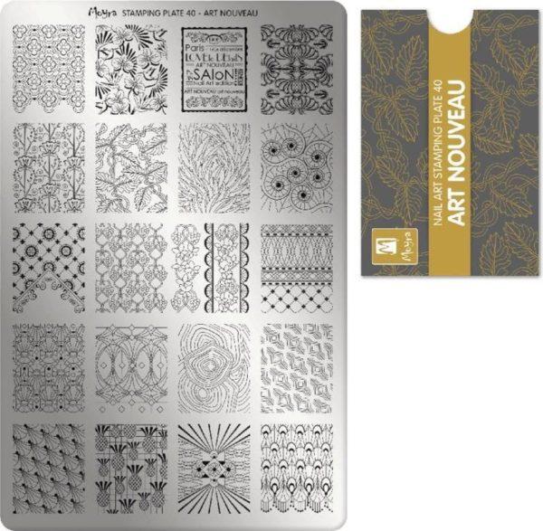 Moyra Stamping Plate 40 Art Nouveau