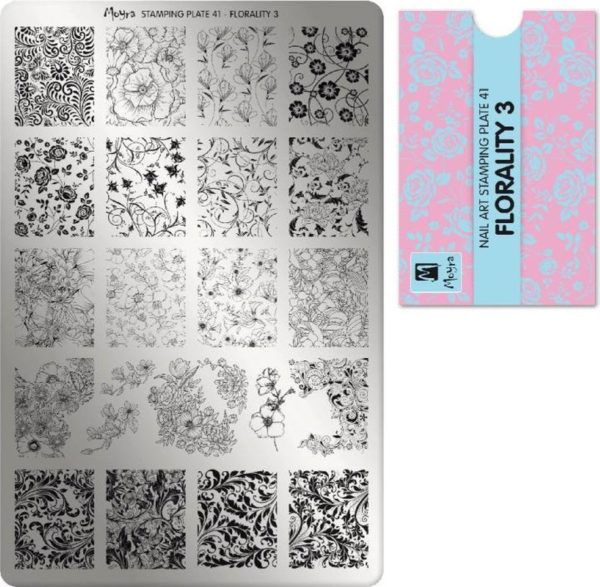 Moyra Stamping Plate 41 Florality 3