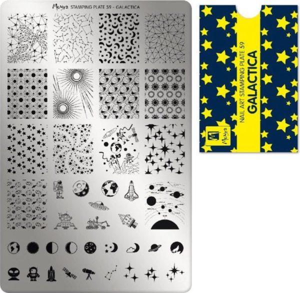 Moyra Stamping Plate 59 Galactica