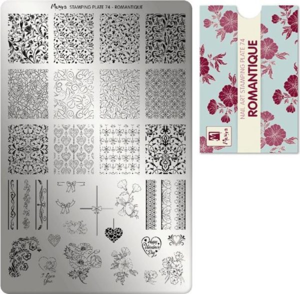 Moyra Stamping Plate 74 Romantique