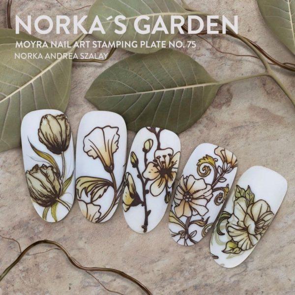 Moyra Stamping Plate 75 Norka's Garden