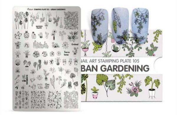 Moyra Stamping plate 105 - Urban Gardening