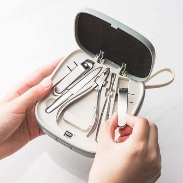Multifunctionele 9-delige nagelknipper set RVS nagelknipper willekeurige kleur levering-Geen
