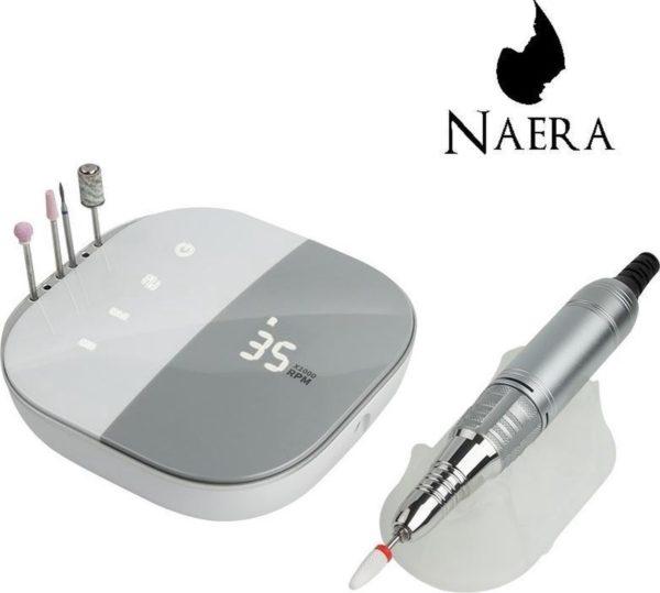 Naera Professionele Elektrische Nagelfrees - Inclusief 4 Vijlen - 35.000 RPM - Nagelvijl voor Manicure en Pedicure - Grijs