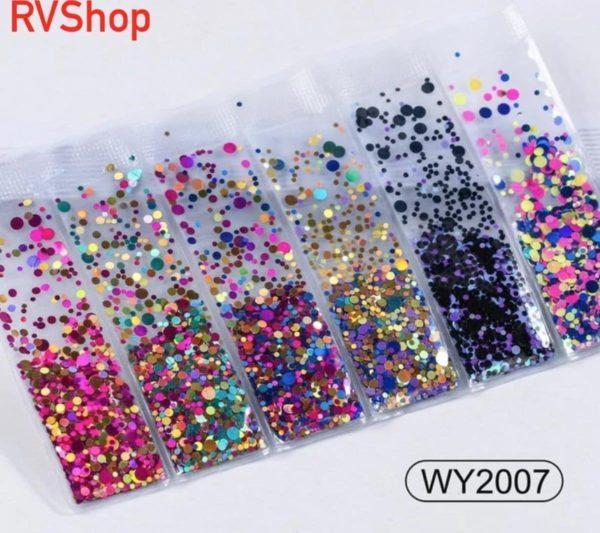 Nagel Decoratie Set - 6 Verschillende Vormen - 3D Glitter Nagel - Nagels - Decoratie - Bling Bling - Gratis Verzending - Nagelset - Nagelstickers - Glitters - Nagel Decoratie - Nail Art