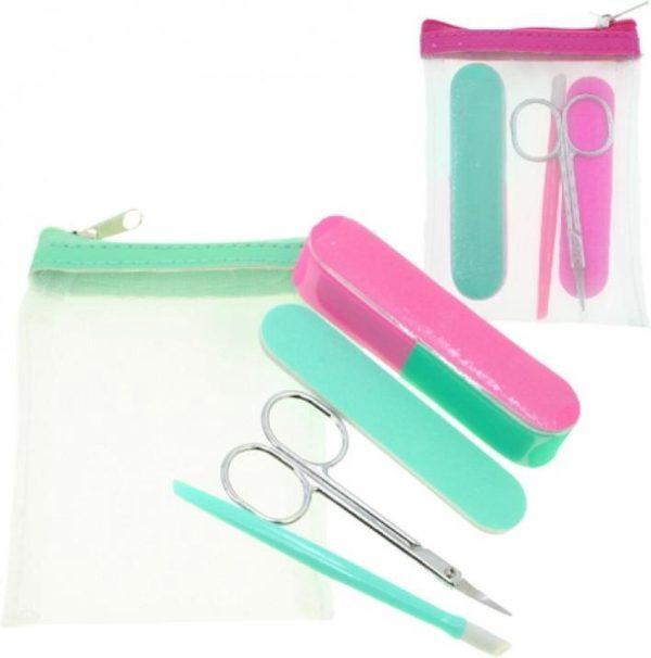 Nagel Pedicureset Verzorgingsset - 4 Delig - Kleur Groen - Make-up
