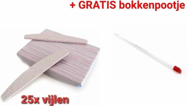 Nagel Vijlen - 100 / 180 GRIT - Kunstnagels - boomerang Vijl - banaan - High Quality - Professionele markt - gellak - moon - moonvijl - shellac - nagels - zebra- nagelverzorging - acrylnagels - gelnagels