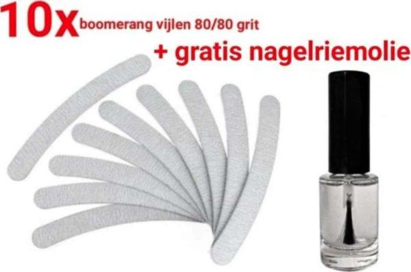 Nagel Vijlen - 100 / 180 GRIT - Kunstnagels - zebra - boomerang - Vijl - banaan - High Quality - Professionele markt - gellak - moon - moonvijl - shellac - nagels - zebra- nagelvijl