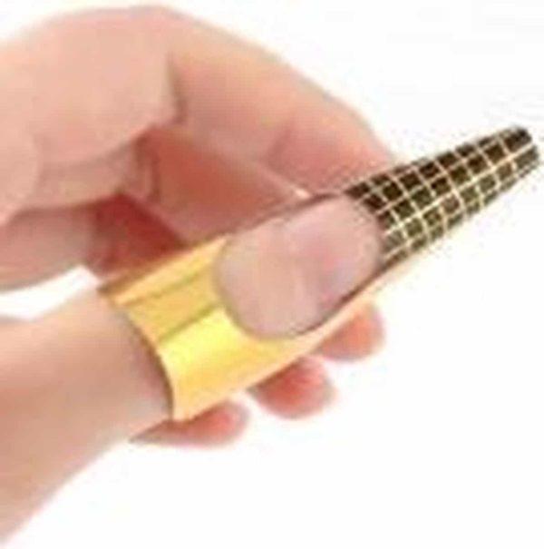 Nagel sjablonen - Nail Forms - Acryl sjabloon - Nail Art - Beauty & Make-up - French Manicure - Goud | 100 stuks