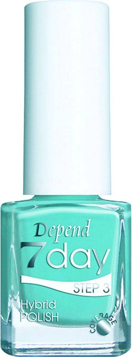 Nagellak Hybride Gellak zonder lamp Depend 7 Days 7168 turqouise- licht blauw 5ml