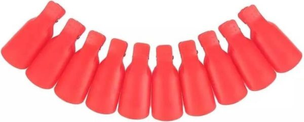 Nagellak Remover Clips Set - Gellak Verwijderen - Nailclips - Soak Off Clips - Roze knijpers - Nail Art - Manicure Nagel verzorging