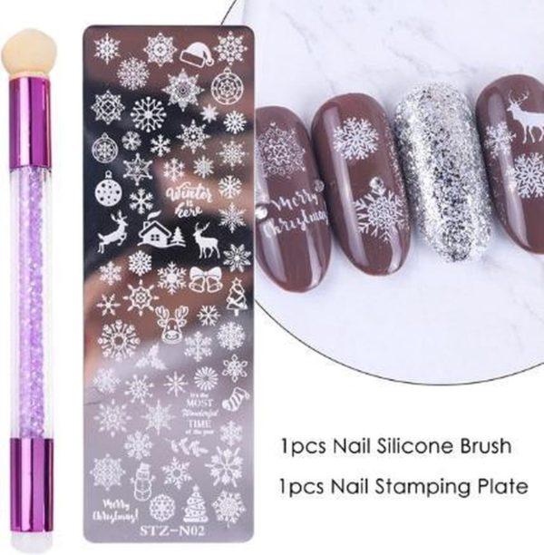 Nagellak Stempelset Easy Stamp 02 (Kerst)