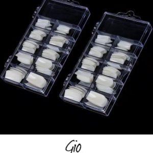 Nageltips Set - 2 x 100 Stuks Naturel - Kunst / Nepnagels - Professionele markt - Naturel Nail Art Acryl Nagels & Gelnagels Tips - Stevige tipbox