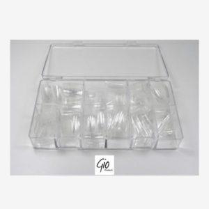 Nageltips Set - 500 Stuks Transparant / Clear in Stevige Tipbox - Tips voor Acryl Nagels & Gelnagels - Hoge Kwaliteit - Professionele Markt