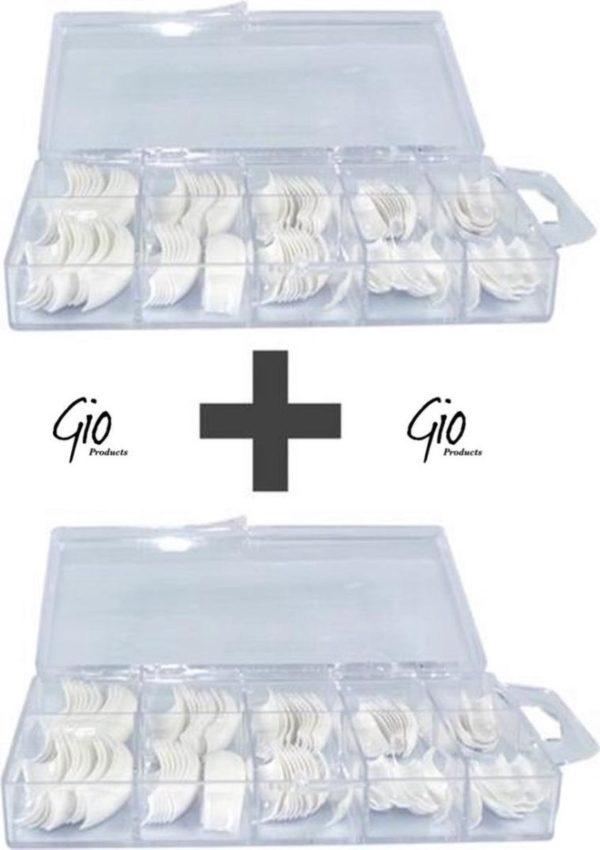 Nageltips Set - French Manicure Tips Wit - 2 x 100 stuks - Acryl nagels en Gelnagels