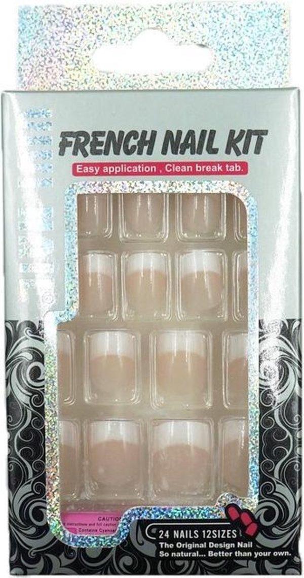 Nageltips Set Met Lijm Transparant - French Nail Art Plaknagels Tips Acryl Nagels & Gelnagels