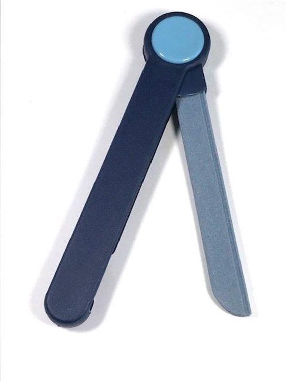 Nagelvijl inklapbaar keramiek 21 cm - pedicure - manicure - blauw