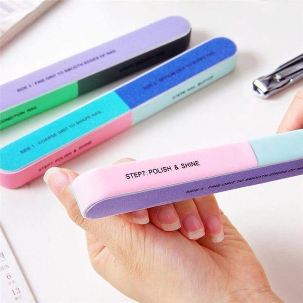 Nagelvijl professional 7 steps - Manicure Accessoire - Pedicure Accessoire - Nagel Verzorging - In 7 stappen mooie nagels - 2 Stuks