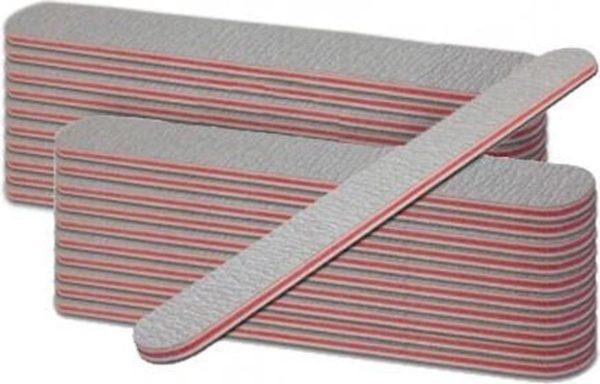 Nagelvijlen-recht-100/180- grijs-20 stuks-Gelnagels - Acrylnagels - Kunstnagels - Manicure -