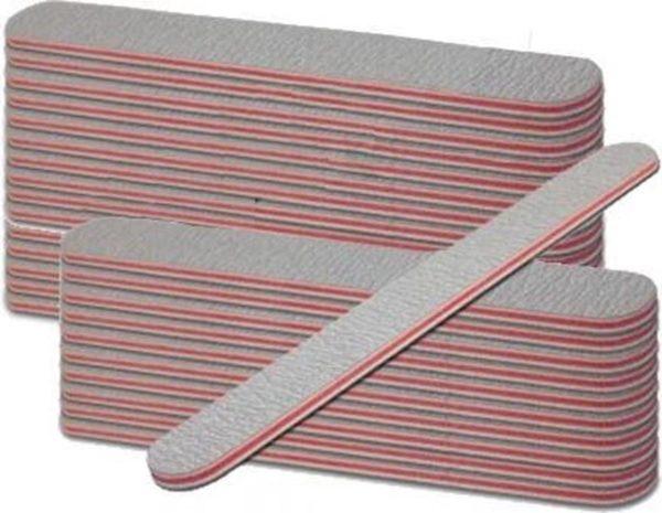 Nagelvijlen recht 100/180 grijs 25 stuks - Nagelvijlen -Gelnagels - Acrylnagels - Kunstnagels - Manicure -