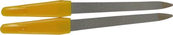 Nagelvijlen van metaal verpakt per 2 stuks geel
