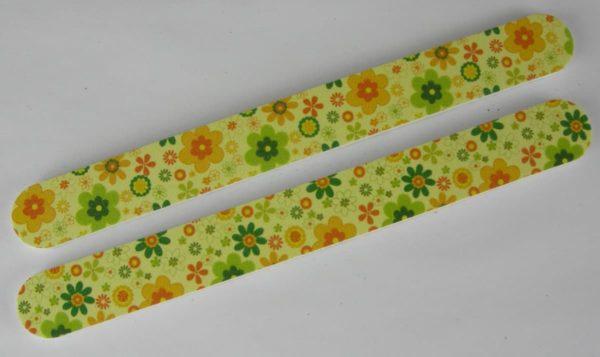 Nagelvijlen verpakt per 2 stuks bloem geel
