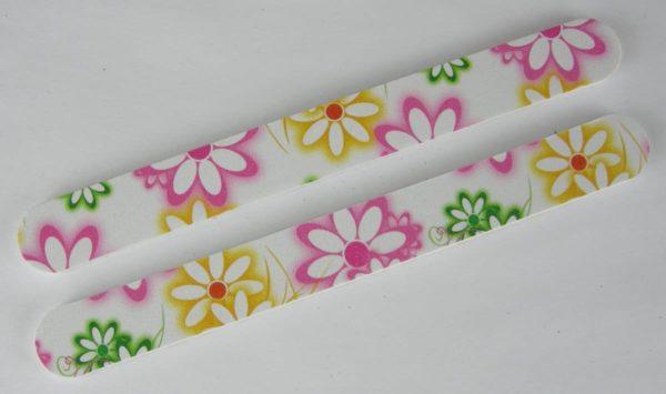 Nagelvijlen verpakt per 2 stuks bloem wit