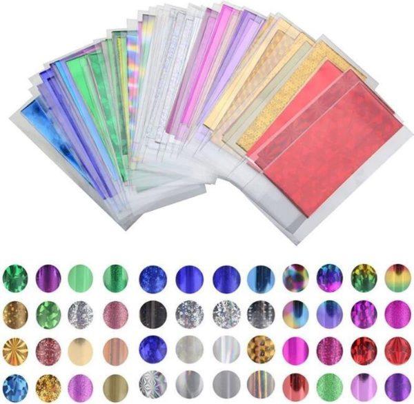 Nail Art Nagel Folie / Transfer Folie voor Nagels / 48 Designs