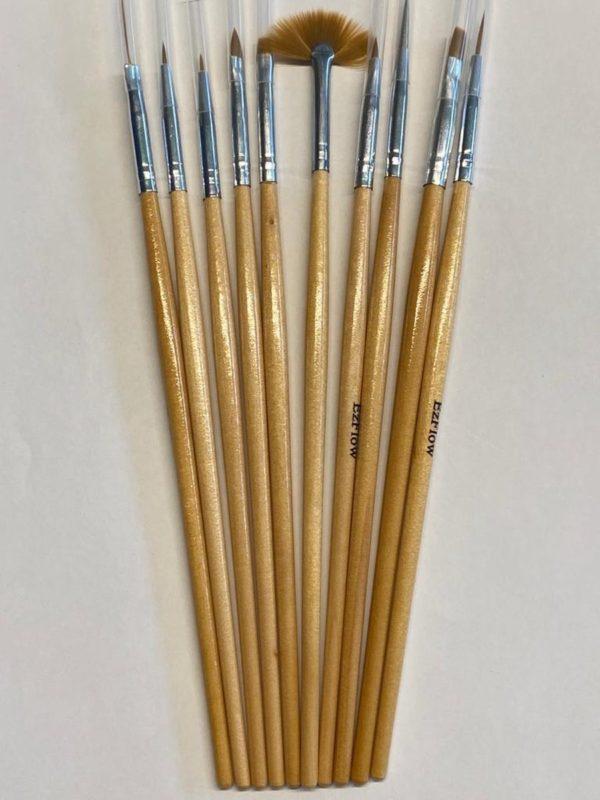 Nail Art Penselen/Nail Brush/Gel/Acryl/Set 10 Delig