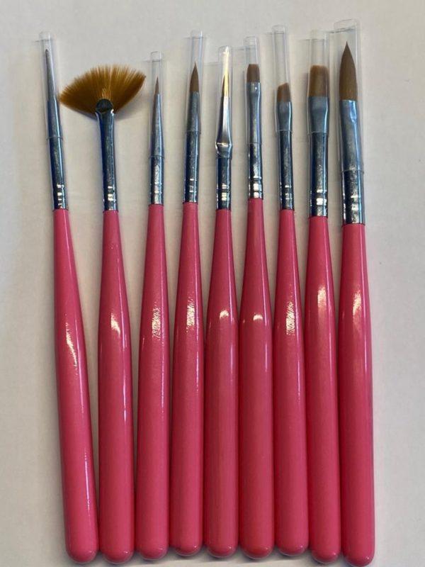 Nail Art Penselen/Nail Brush/Gel/Acryl/Set 9 Delig